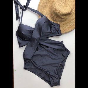 Cupshe twist front high waist cut out monokini